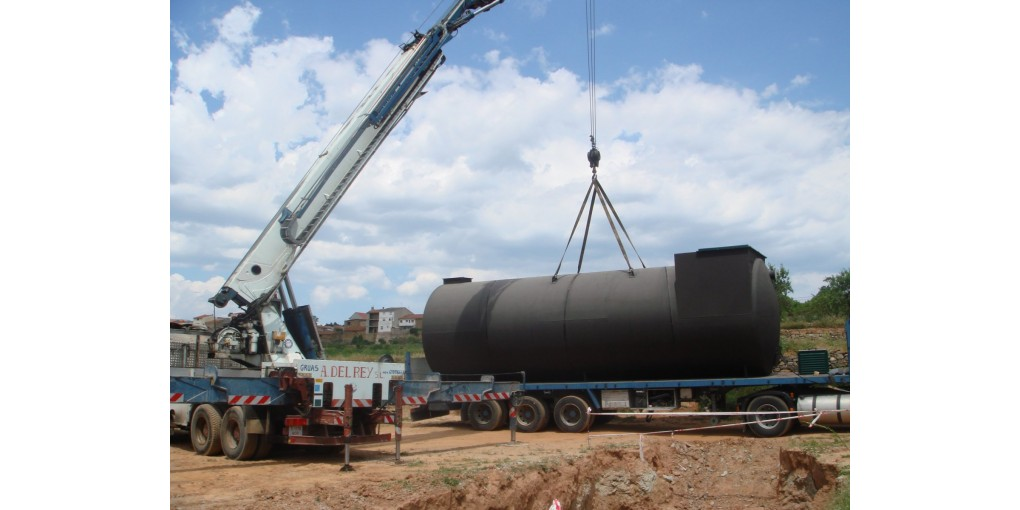 Depuradora para aguas residuales para 150  habitantes e instalación en  superficie