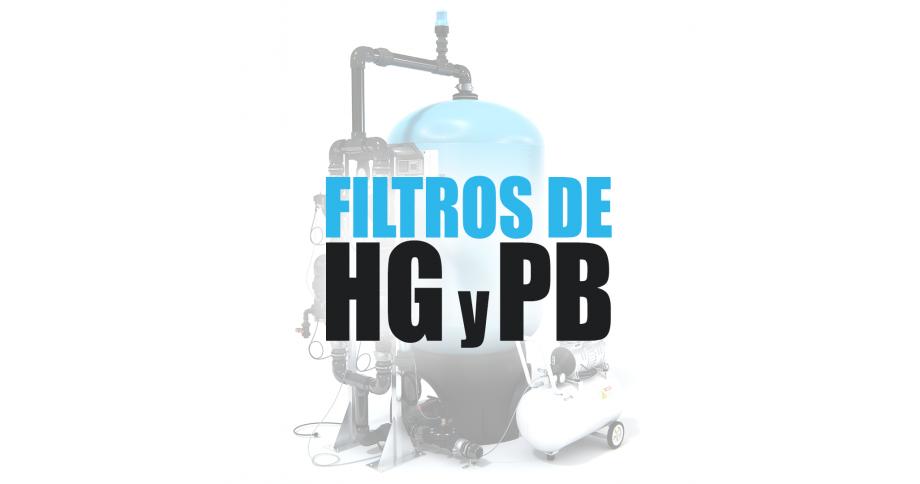 Filtro para eliminar plomo y mercurio del agua