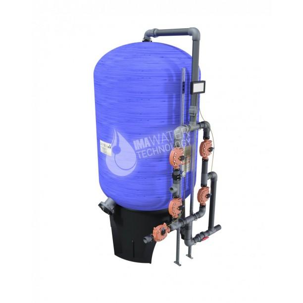 Filtro industrial de arena para tratamiento de agua válvulas automáticas