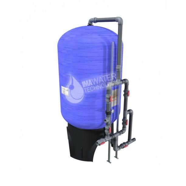 Filtro de arena tratamiento de agua con válvulas manuales