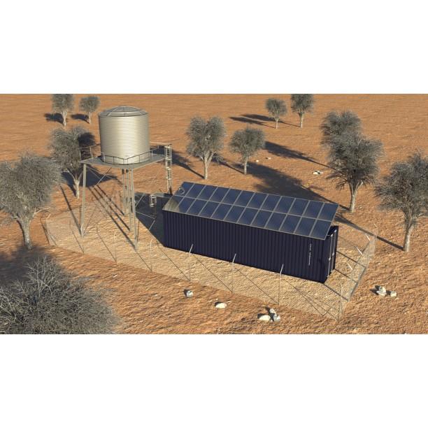 Planta de tratamiento de agua solar