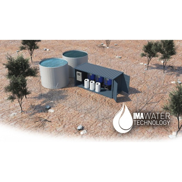 Planta compacta reutilizacion aguas grises y agua de lluvia